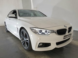 2014 BMW 4 Series F36 435i Gran Coupe White 8 Speed Sports Automatic Hatchback.