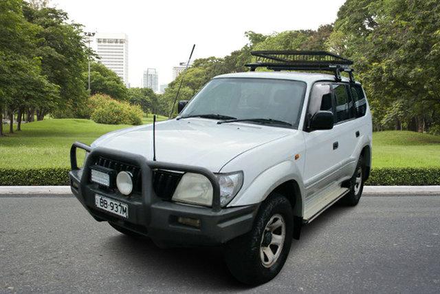 Used Toyota Landcruiser Prado KZJ95R GXL, 2002 Toyota Landcruiser Prado KZJ95R GXL White 4 Speed Automatic Wagon