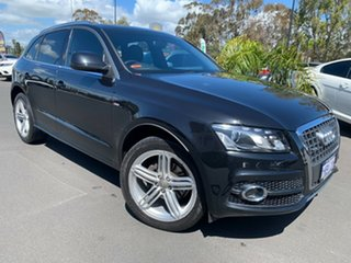 2011 Audi Q5 8R MY12 TFSI S Tronic Quattro Black 7 Speed Sports Automatic Dual Clutch Wagon.