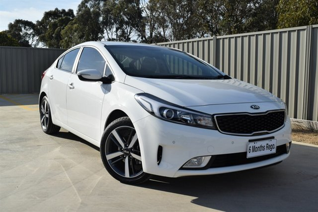 Used Kia Cerato YD MY18 Sport, 2018 Kia Cerato YD MY18 Sport Clear White 6 Speed Sports Automatic Sedan