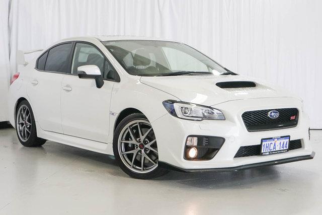 Used Subaru WRX V1 MY15 STI AWD Premium, 2014 Subaru WRX V1 MY15 STI AWD Premium White 6 Speed Manual Sedan
