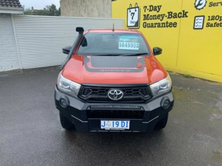 2018 Toyota Hilux GUN126R Rugged X Double Cab Orange 6 Speed Sports Automatic Utility