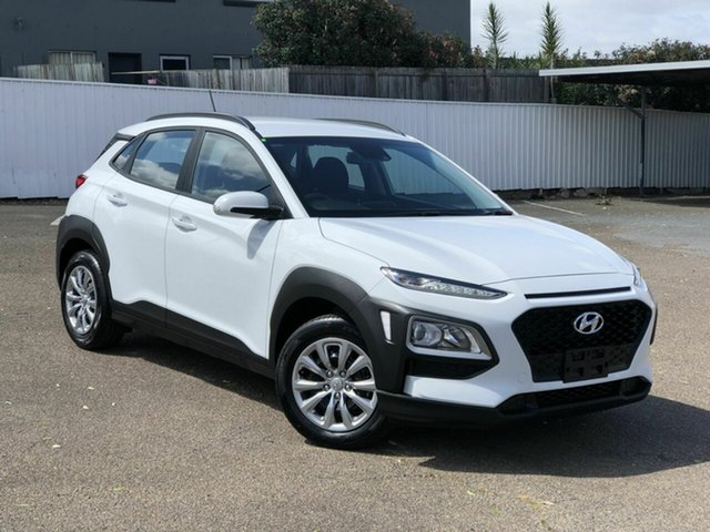 Used Hyundai Kona OS.3 MY20 Go 2WD Chermside, 2019 Hyundai Kona OS.3 MY20 Go 2WD White 6 Speed Sports Automatic Wagon