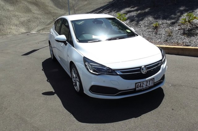 Used Holden Astra BK MY18 RS South Gladstone, 2017 Holden Astra BK MY18 RS White 6 Speed Sports Automatic Hatchback