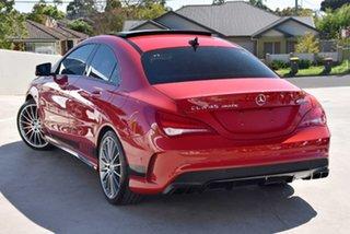 2015 Mercedes-Benz CLA-Class C117 806MY CLA45 AMG SPEEDSHIFT DCT 4MATIC Jupiter Red 7 Speed.