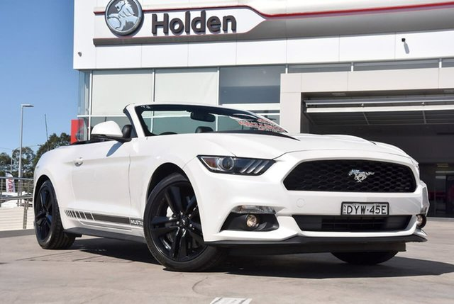 Used Ford Mustang FM 2017MY SelectShift, 2016 Ford Mustang FM 2017MY SelectShift Platinum White 6 Speed Sports Automatic Convertible