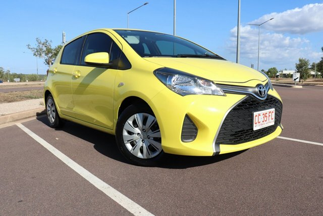 Used Toyota Yaris NCP130R Ascent, 2016 Toyota Yaris NCP130R Ascent Vivid Yellow 4 Speed Automatic Hatchback