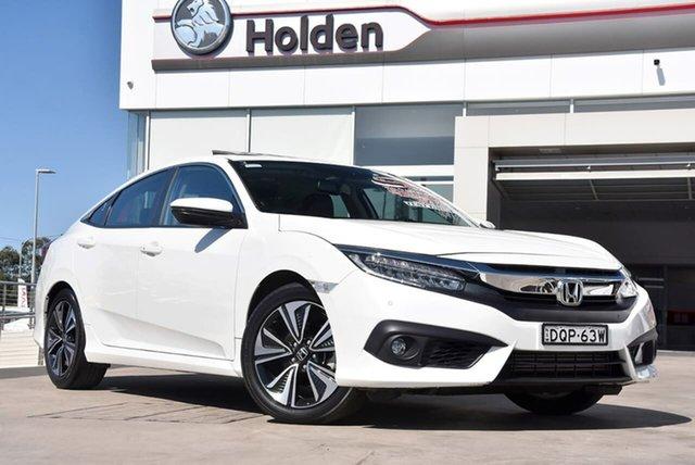 Used Honda Civic 10th Gen MY17 VTi-LX, 2017 Honda Civic 10th Gen MY17 VTi-LX White Orchid 1 Speed Constant Variable Sedan