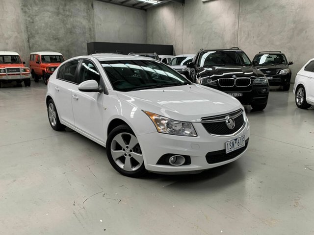 Used Holden Cruze JH Series II MY14 Equipe, 2014 Holden Cruze JH Series II MY14 Equipe White 6 Speed Sports Automatic Hatchback