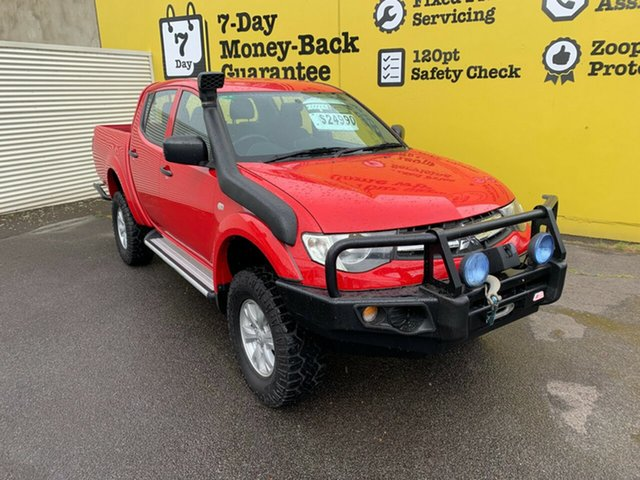 Used Mitsubishi Triton MN MY15 GLX Double Cab, 2014 Mitsubishi Triton MN MY15 GLX Double Cab Red 5 Speed Manual Utility