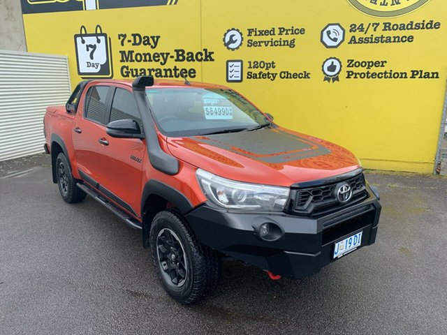 Used Toyota Hilux GUN126R Rugged X Double Cab, 2018 Toyota Hilux GUN126R Rugged X Double Cab 6 Speed Sports Automatic Utility