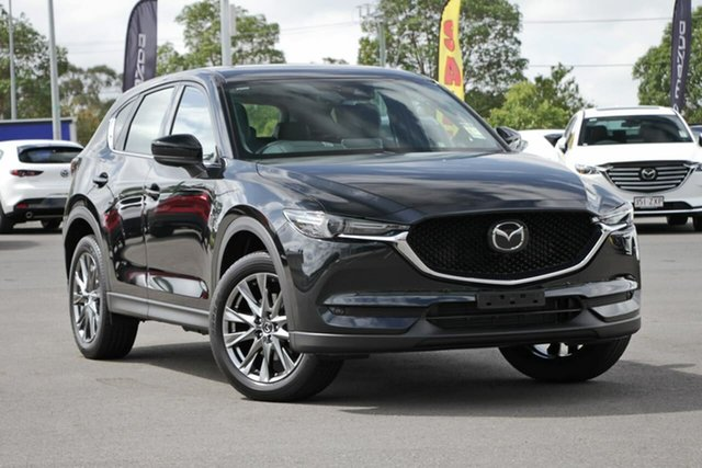New Mazda CX-5 KF4WLA Akera SKYACTIV-Drive i-ACTIV AWD, 2020 Mazda CX-5 KF4WLA Akera SKYACTIV-Drive i-ACTIV AWD Jet Black 6 Speed Sports Automatic Wagon
