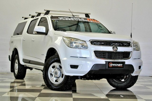 Used Holden Colorado RG MY14 LX (4x4), 2014 Holden Colorado RG MY14 LX (4x4) White 6 Speed Automatic Crew Cab Pickup