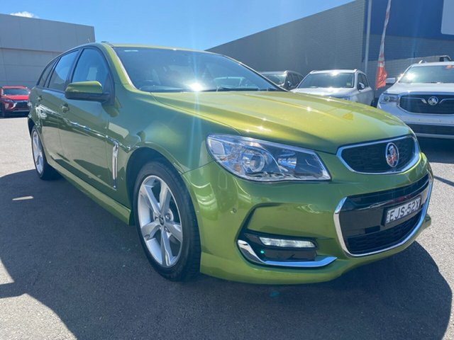 Used Holden Commodore VF II MY16 SV6 Sportwagon Cardiff, 2016 Holden Commodore VF II MY16 SV6 Sportwagon Green 6 Speed Sports Automatic Wagon