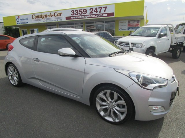Used Hyundai Veloster FS4 Series II Coupe D-CT, 2014 Hyundai Veloster FS4 Series II Coupe D-CT Silver 6 Speed Sports Automatic Dual Clutch Hatchback