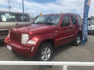 2008 Jeep Cherokee Red Automatic Wagon.