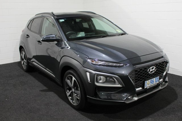 Used Hyundai Kona OS.3 MY20 Highlander D-CT AWD, 2020 Hyundai Kona OS.3 MY20 Highlander D-CT AWD Grey 7 Speed Sports Automatic Dual Clutch Wagon
