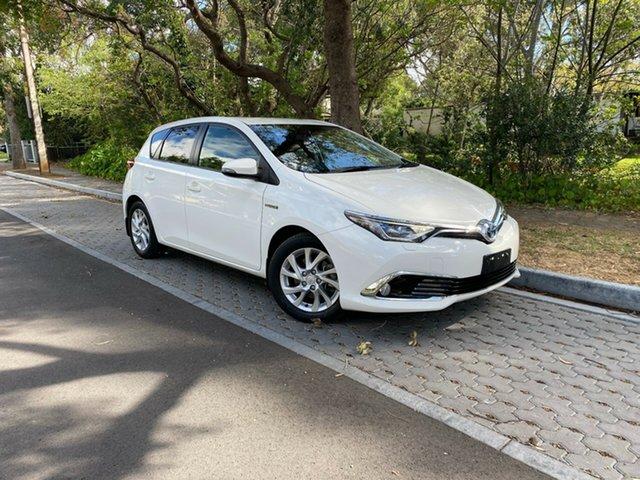 Used Toyota Corolla ZWE186R Hybrid E-CVT, 2017 Toyota Corolla ZWE186R Hybrid E-CVT White 1 Speed Constant Variable Hatchback Hybrid