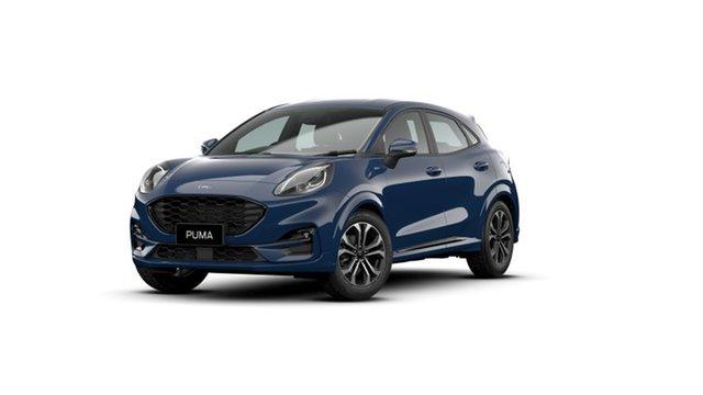 New Ford Puma JK 2021.75MY ST-Line Townsville, 2021 Ford Puma JK 2021.75MY ST-Line Blazer Blue 7 Speed Sports Automatic Dual Clutch Wagon