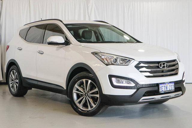 Used Hyundai Santa Fe DM3 MY16 Elite, 2015 Hyundai Santa Fe DM3 MY16 Elite White 6 Speed Sports Automatic Wagon