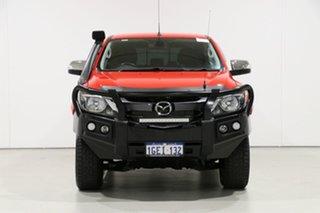 2017 Mazda BT-50 MY16 GT (4x4) Red 6 Speed Manual Dual Cab Utility.