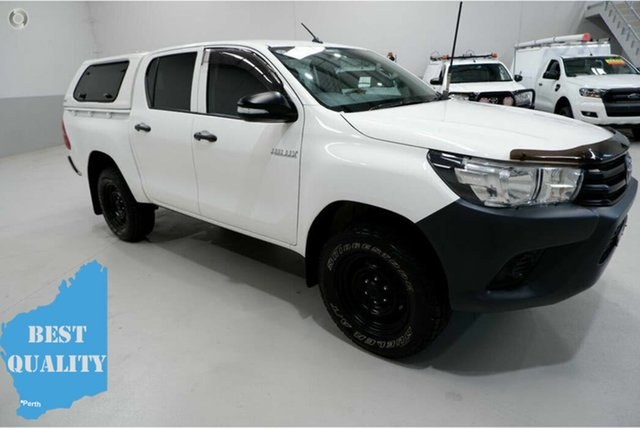 Used Toyota Hilux GUN125R Workmate Double Cab, 2017 Toyota Hilux GUN125R Workmate Double Cab 6 Speed Sports Automatic Utility