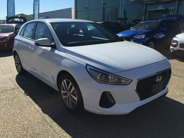 Used Hyundai i30 PD2 MY20 Active Fyshwick, 2019 Hyundai i30 PD2 MY20 Active White 6 Speed Sports Automatic Hatchback