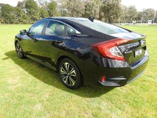 2016 Honda Civic VTI-LX Black Continuous Variable Sedan.
