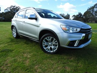 2019 Mitsubishi ASX ES Silver Continuous Variable Wagon.