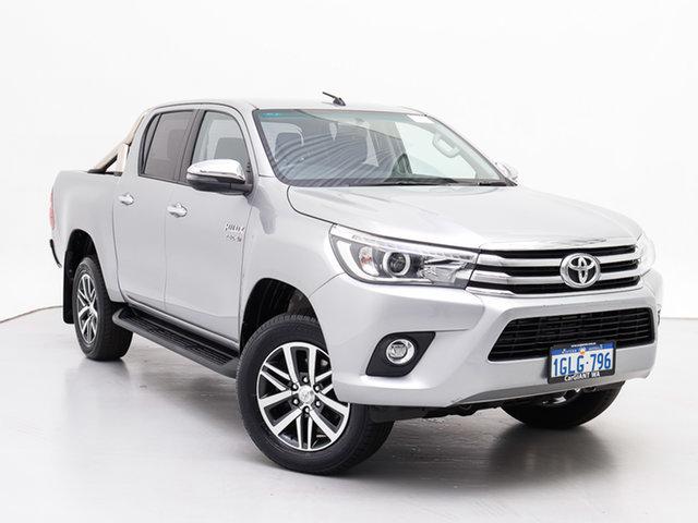 Used Toyota Hilux GUN126R MY17 SR5 (4x4), 2017 Toyota Hilux GUN126R MY17 SR5 (4x4) Silver 6 Speed Automatic Dual Cab Utility