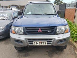 2001 Mitsubishi Pajero NM GLS Blue Sapphire & Silver 5 Speed Sports Automatic Wagon