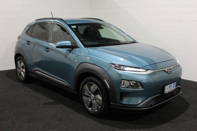 Used Hyundai Kona OS.3 MY19 electric Launch Edition, 2019 Hyundai Kona OS.3 MY19 electric Launch Edition Blue 1 Speed Reduction Gear Wagon