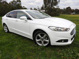 2018 Ford Mondeo trend White 6 Speed Automatic Sedan.