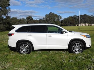 2014 Toyota Kluger GRANDE White 6 Speed Automatic Wagon.
