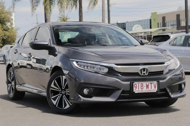 Used Honda Civic 10th Gen MY17 VTi-LX, 2017 Honda Civic 10th Gen MY17 VTi-LX Grey 1 Speed Constant Variable Sedan