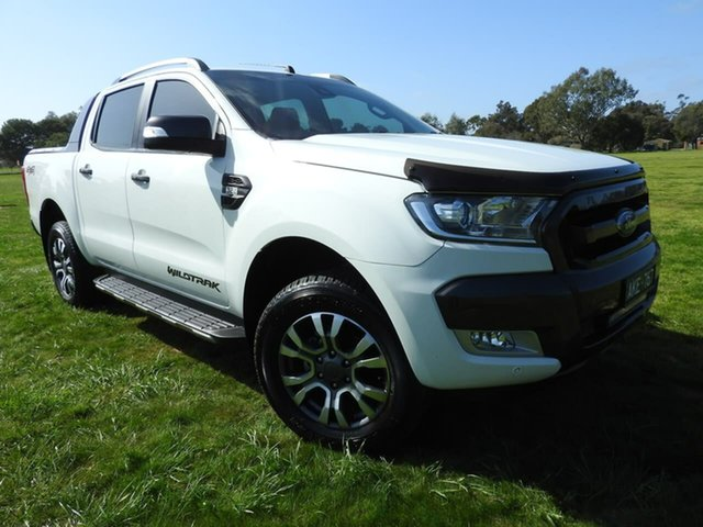 Used Ford Ranger  , 2016 Ford Ranger WILDTRAK White 6 Speed Automatic Utility