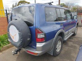 2001 Mitsubishi Pajero NM GLS Blue Sapphire & Silver 5 Speed Sports Automatic Wagon.