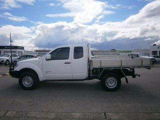 2012 Nissan Navara D40 S6 MY12 RX King Cab White 6 Speed Manual Cab Chassis