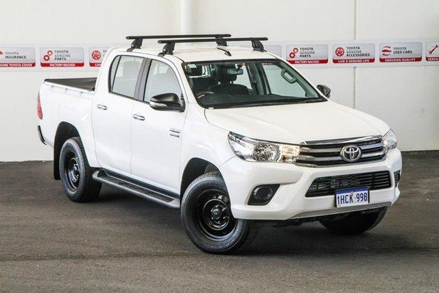 Used Toyota Hilux GUN126R SR (4x4), 2017 Toyota Hilux GUN126R SR (4x4) Glacier White 6 Speed Automatic Dual Cab Utility