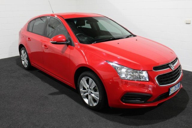 Used Holden Cruze JH Series II MY16 Equipe, 2015 Holden Cruze JH Series II MY16 Equipe Red Hot 6 Speed Sports Automatic Hatchback