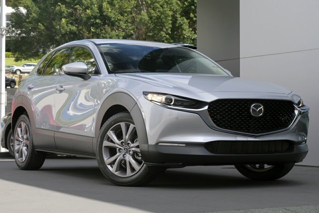 New Mazda CX-30 DM2W7A G20 SKYACTIV-Drive Touring Wollongong, 2021 Mazda CX-30 DM2W7A G20 SKYACTIV-Drive Touring Sonic Silver 6 Speed Sports Automatic Wagon
