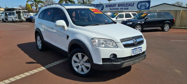 Used Holden Captiva CG MY10 LX AWD East Bunbury, 2010 Holden Captiva CG MY10 LX AWD White 5 Speed Sports Automatic Wagon