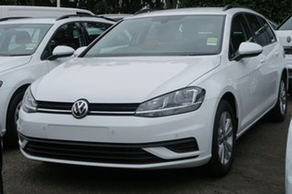 2020 Volkswagen Golf 7.5 MY20 110TSI DSG Trendline White 7 Speed Sports Automatic Dual Clutch Wagon.