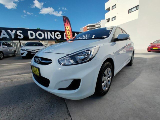 Used Hyundai Accent RB3 MY16 Active, 2015 Hyundai Accent RB3 MY16 Active White 6 Speed Constant Variable Sedan