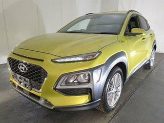 2019 Hyundai Kona OS.2 MY19 Elite D-CT AWD Yellow 7 Speed Sports Automatic Dual Clutch Wagon.