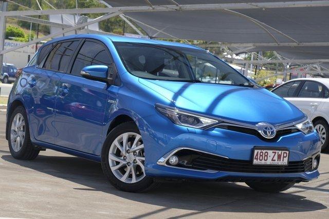 Used Toyota Corolla ZWE186R Hybrid E-CVT, 2017 Toyota Corolla ZWE186R Hybrid E-CVT Blue 1 Speed Constant Variable Hatchback Hybrid
