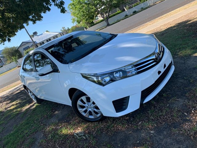 Used Toyota Corolla ZRE172R Ascent S-CVT, 2016 Toyota Corolla ZRE172R Ascent S-CVT Glacier White 7 Speed Constant Variable Sedan