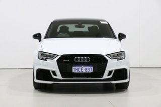 2018 Audi RS 3 8V MY18 Quattro White 7 Speed Auto Dual Clutch Sedan.