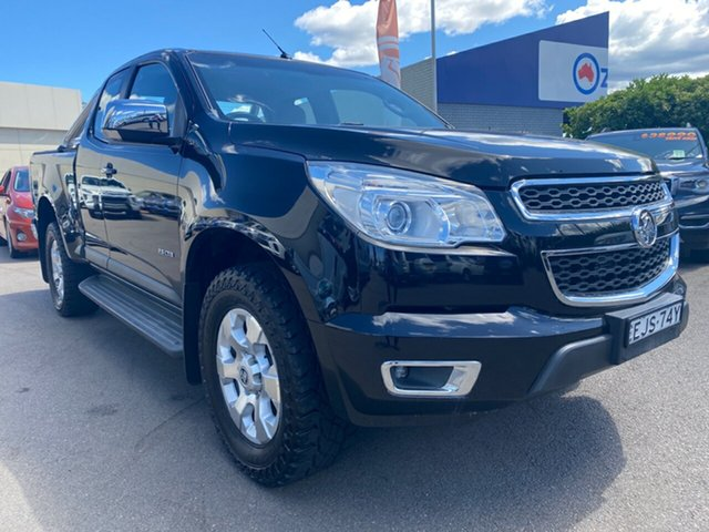 Used Holden Colorado RG MY13 LTZ Space Cab, 2012 Holden Colorado RG MY13 LTZ Space Cab Black 5 Speed Manual Utility