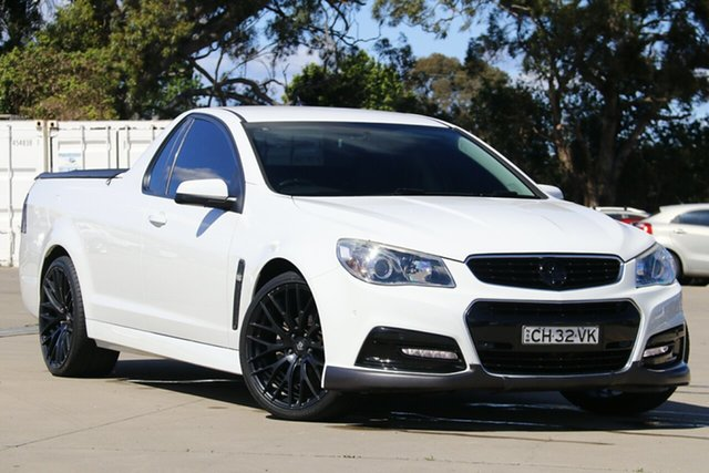 Used Holden Ute VF SV6, 2014 Holden Ute VF SV6 White 6 Speed Manual Utility